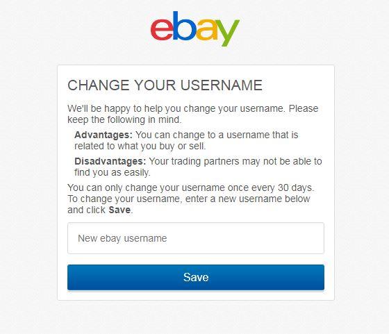 eBayアカウントID変更