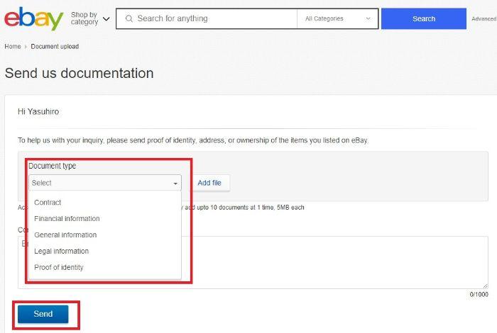 eBay send us documentation