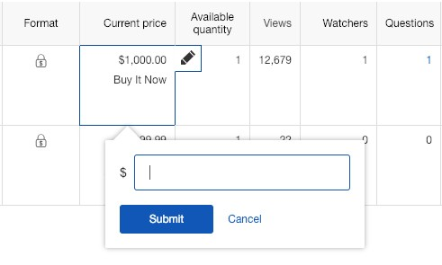 eBay Active Listing