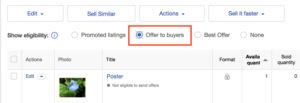 eBay輸出のオファー機能