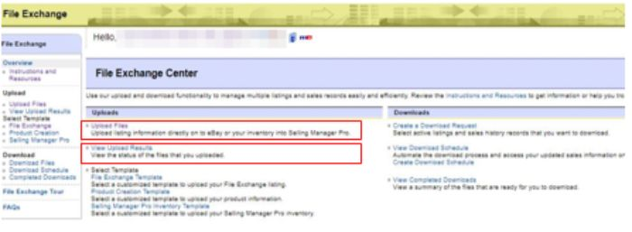 eBay File Exchange Center