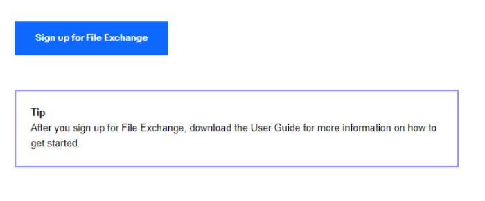 eBay File Exchangeのサインアップ