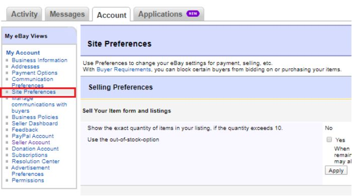 Site Preference
