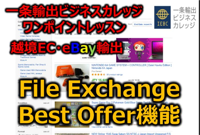 【eBay輸出】File ExchangeのBest Offerフィールドを活用してバイヤーからのベストオファーを自動Accept(受諾)する方法