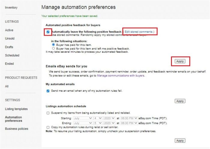 Manage Automatic Preference